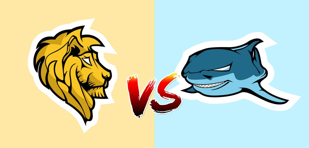 lion vs shark